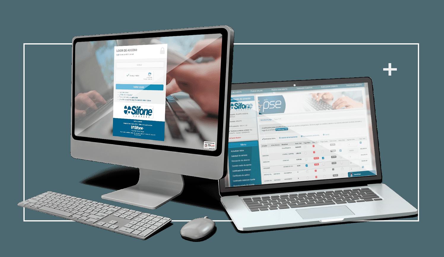 Oficina Virtual Sifone Company  - Banca en línea para el sector solidario y financiero